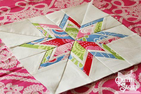 Quilt Story: Paper piecing tutorial.