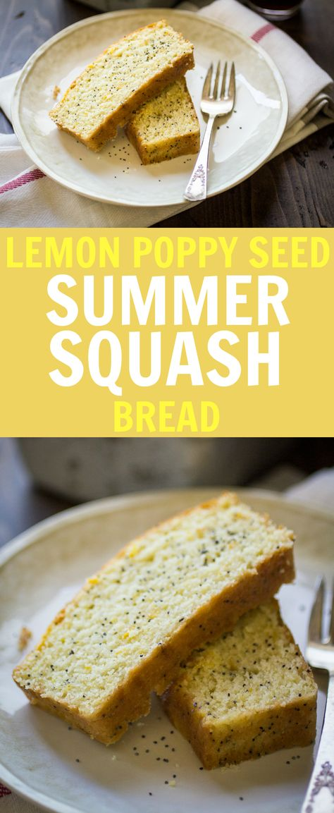 Lemon Poppy Seed Summer Squash Bread - The Wanderlust Kitchen