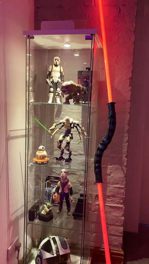 A little look around the Star Wars man cave #lightsaber #starwars