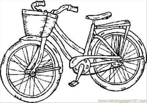 Bicycle Safety Coloring Pages Free Printable Coloring Page Old Bike Transport Bikes Coloring Pages Old Bikes Bike Card