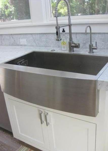 Kitchen Backsplash With Granite Stainless Steel Farmhouse Sinks 53 New Ideas Sinks Kitchen Stainless Farmhouse Sink Faucet Stainless Steel Farmhouse Sink