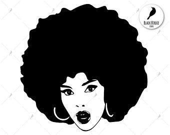 Black Woman Svg Black Woman Clipart Pretty Black Educated Black Woman Svg Woman Clipart Black Girl Art