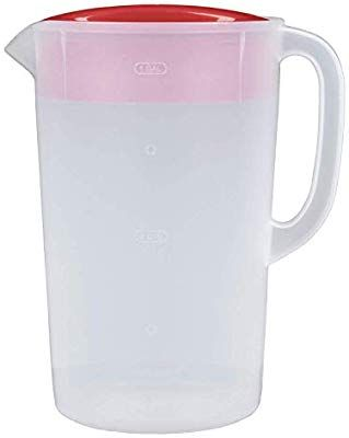 Rubbermaid 1 Gallon Classic Pitcher Pack Of 2 Red Clear Pitchers Rubbermaid Pitcher Red