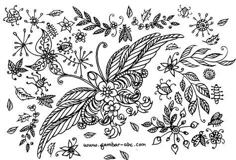 Gambar Motif Batik Bunga Kupu Kupu Motif Bunga Untuk Dewasa Blog Sketsa Seni Pola Menggambar Sketsa