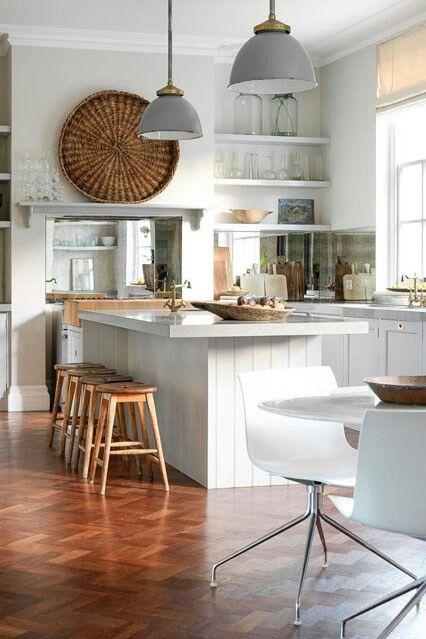 White n woody  kitchen..