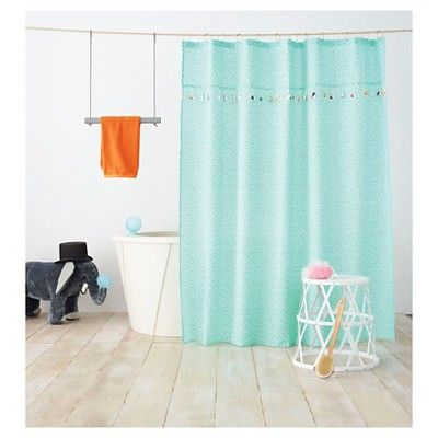Tassel Shower Curtain Aqua Pool Pillowfort Aqua Pools