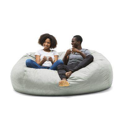 Big Joe Bean Bag Sofa Upholstery Color Gray Size 40 H X 84 W X 60 D Bean Bag Chair Kids Bean Bag Sofa Furry Bean Bag Chair