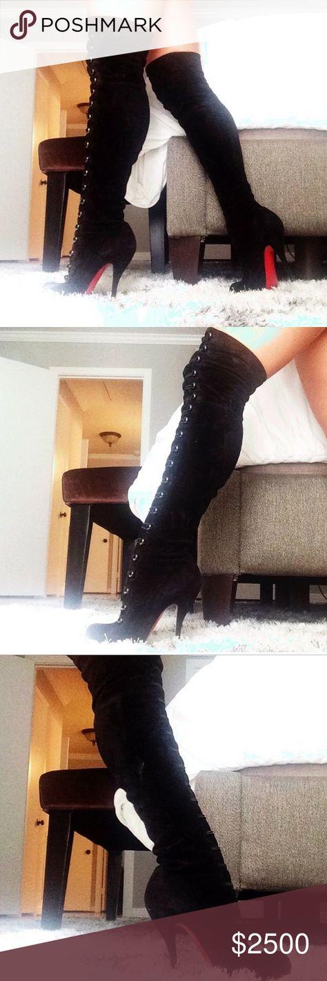 346433dd2e2d List of Pinterest christian louboutin boots thigh highs platform ...