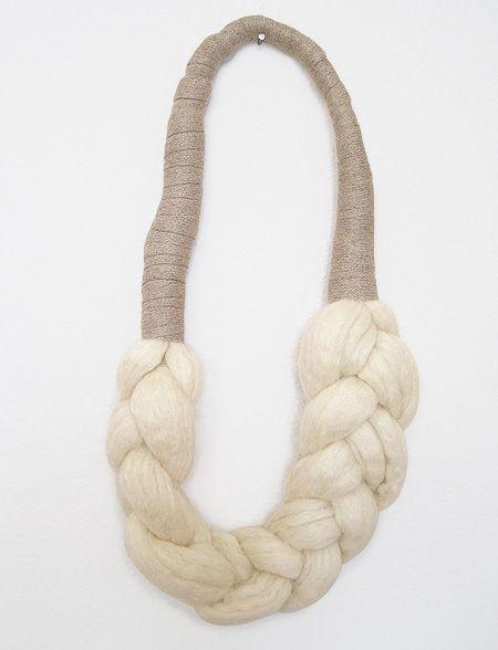elsinore carabetta wool braid necklace. A scarfclace