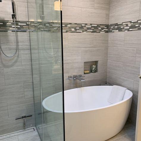 Vanity Art 55 X 32 Freestanding Soaking Bathtub Wayfair Ca Master Bathroom Renovation Tub Shower Combo Remodel Bathroom Remodel Shower