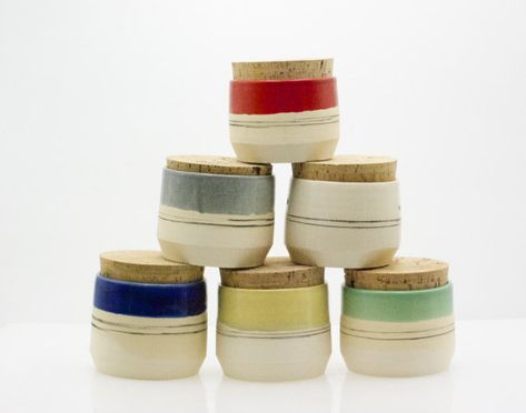 Stoneware kitchen canisters - Canister set - Kitchen storage ...