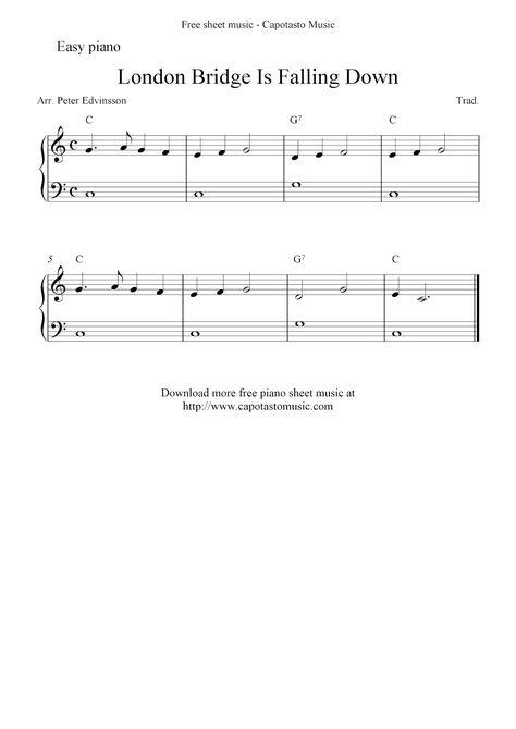 Free Piano Sheet Music Score London Bridge Is Falling Down