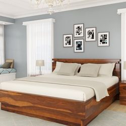 Beautiful Wood And A Contemporary Design Create A Dynamic Look For