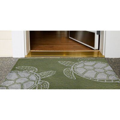 Highland Dunes Claycomb Turtle Hand Tufted Green Indoor Outdoor Area Rug Indoor Outdoor Area Rugs Blue Area Rugs Area Rugs