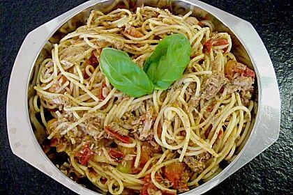 Thunfisch - Spaghetti, ein schönes Rezept aus der Kategorie Fisch. Bewertungen: 28. Durchschnitt: Ø 4,2.