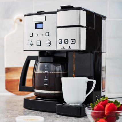 Cuisinart Coffee Center 12 Cup Coffee Maker And Single Serve Brewer Sur La Table Coffee Brewer Coffee Drinks Coffee Pods