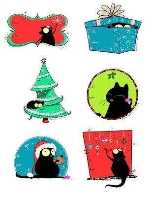 Printable Christmas/Holiday Labels   Celeste Gagnon Illustrations