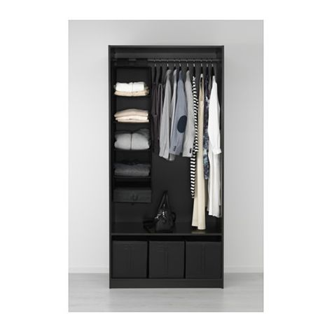 Pax Ballstad Guardaroba.Pax Wardrobe Black Brown Ballstad White In 2019 Pax