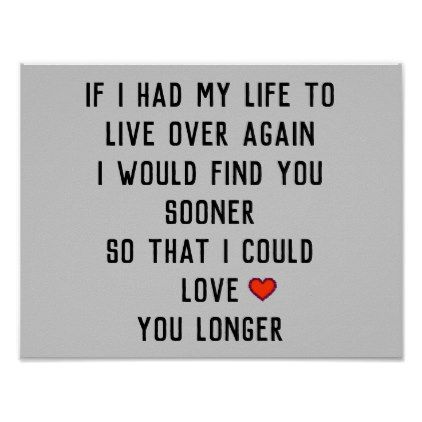 If I Had My Life Poster - Saint Valentine's Day gift idea couple love girlfriend boyfriend design