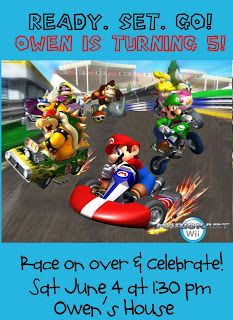 Mario Kart birthday party Party Ideas Pinterest Mario kart