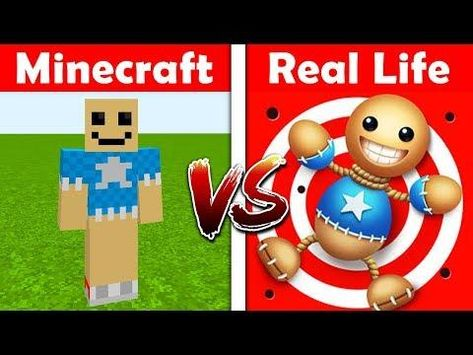 Minecraft Kick The Buddy In Real Life Minecraft Vs Real