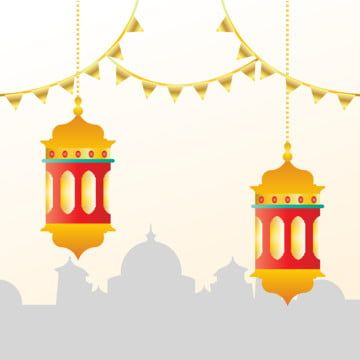 Golden Lantern And Sillhouete Mosque Building Eid Al Adha Worship Backgrounds Islamic Posters Eid Background