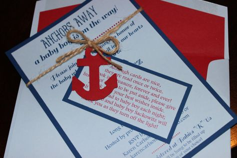 Nautical Themed Ahoy It's a Boy Baby Shower Invitation by RSVPEnsembles