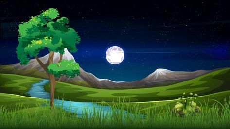 Free Video Background, Cartoon Background, Green Screen Video Backgrounds, Phone Backgrounds, Free Cartoons, Cool Cartoons, Sky Full, Full Moon, Black And White Gif