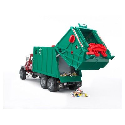 Bruder Toys Mack Granite Garbage Truck 1 16 Scale Realistic Functional Toy Garbage Collection Vehicle Garbage Truck Trucks Toys