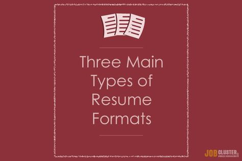 Different Types of Resume Formats JobCluster Blog - career change resume format