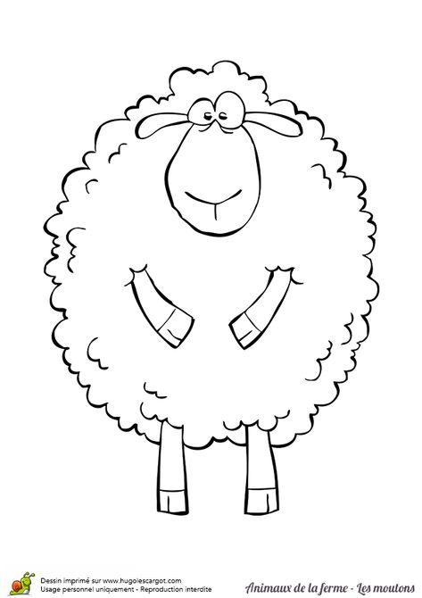 Coloriage D Un Gros Mouton Souriant Coloriage Animaux De La