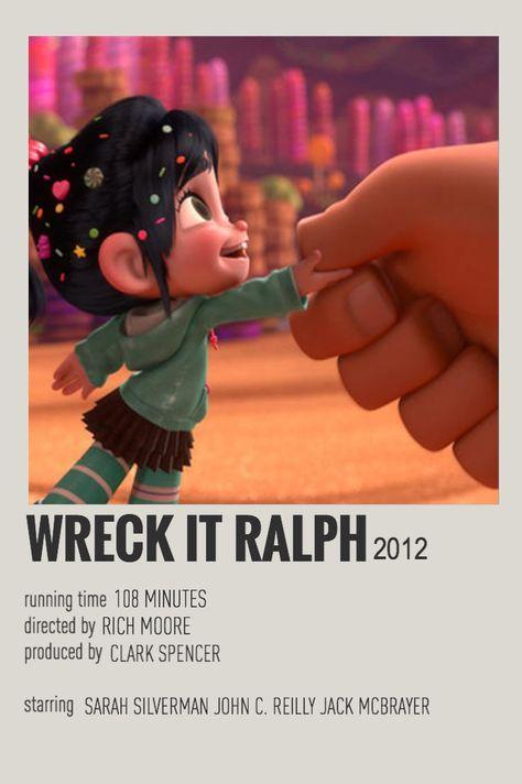 wreck it ralph minimalist poster- chloe