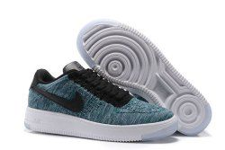 Nike Air Force One Ultra Flyknit Low (Blue and White), Men's