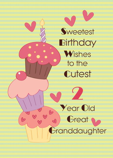 Great Granddaughter 2 Year Old Sweetest Birthday Wishes Card Ad Sponsored Year Grandda Birthday Wishes Cards Old Birthday Cards Granddaughter Birthday