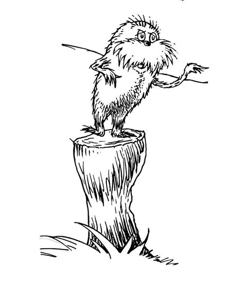 The Lorax The Lorax Protest To The Onceler Coloring Pages