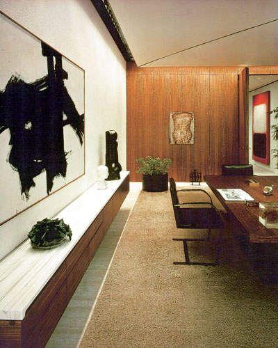 Eero Saarinen Florence Knoll CBS Building Black Rock New York City 1965 Interior Of CEO Frank Stantons Office