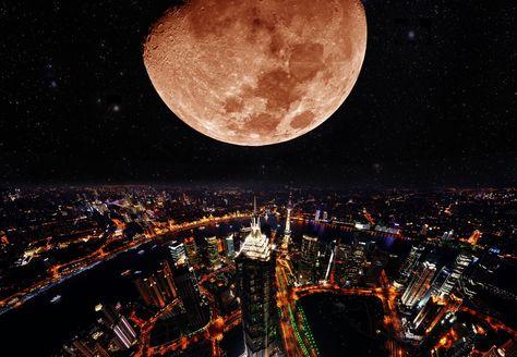 It is full moon in Shanghai.