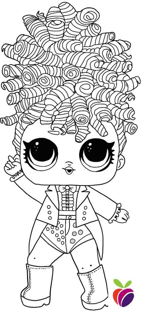 Lol Surprise Hairgoals Series Coloring Page Miss Jive Coloring Pages Kids Printable Coloring Pages Star Coloring Pages