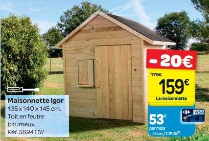 Maisonnette en bois carrefour - Les cabanes de jardin, abri ...