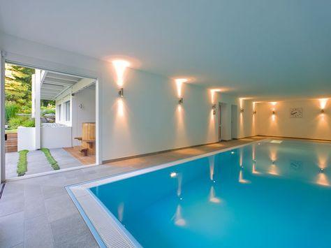 HUF Haus mit Indoor- Pool Fertighaus Pinterest moderne