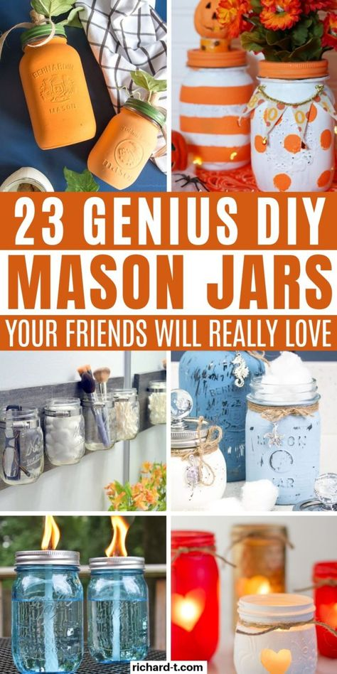 spectacular crafts mason easy that look diy jar 23 23 Easy DIY Mason Jar Crafts That Look SpectacularYou can find Painted mason jars and more on our website Fall Mason Jars, Mason Jar Lids, Mason Jar Candles, Canning Jars, Chalk Paint Mason Jars, Painted Mason Jars, Glitter Paint Mason Jars, Mason Jar Projects, Mason Jar Crafts