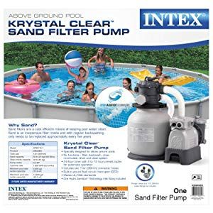 Amazon Com Intex Krystal Clear Sand Filter Pump For Above Ground Pools 12 Inch 110 120v With Gfci S Above Ground Swimming Pools In Ground Pools Pool Pump