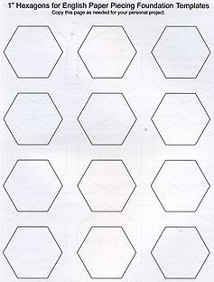 Free Hexagon Template Downloads This Blog Has Other Info On
