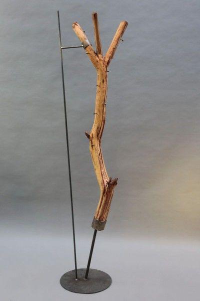 Baumstamm Garderobe Mit Einem Stahlfuss Stahl Garderobe Eiche