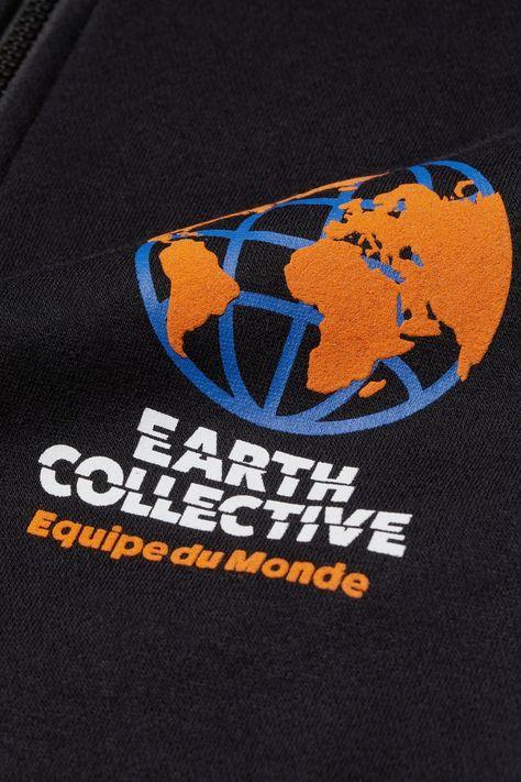 Stand-up collar sweatshirt - Black/Earth Collective - Men   H&M GB 5
