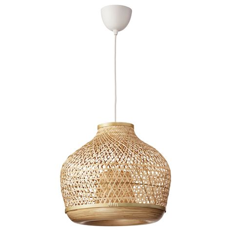 Shop lamps and light fixtures at IKEA including floor lamps, wall sconces, hanging pendants, desk lamps and more in a variety of styles and designs. Sinnerlig Ikea, Flexible Furniture, Clear Light Bulbs, Make A Lamp, Ikea Family, Bamboo Plants, Led Ceiling Lights, Ikea Ceiling Light, Ceiling Lamps