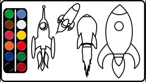 Menggambar Dan Mewarnai Pesawat Ulang Alik Atlantis Dengan Gambar