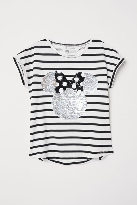 Reversible Sequin T Shirt White Minnie Mouse Kids H M Us Girls Clothes Shops Luxury Baby Clothes Minnie Shirt