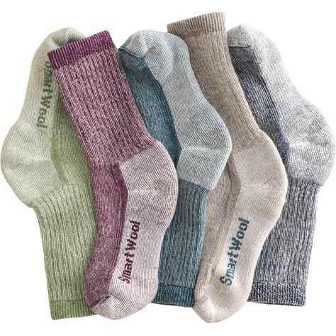 With Women's Smartwool Hiking Socks, there's no itching, no scratching. Your feet don't sweat, they don't stink ... best of all they don't complain!