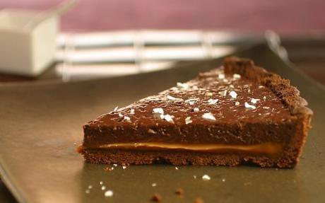 Double Chocolate Tart with Dulce de Leche
